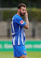 Niklas Stark  /   / Portrait     <br /> / Sport / Football / pre season friendly Bundesliga  DFL /  2018/2019 / 15.08.2018 / Hertha BSC Berlin vs. Hscher FC Chemie HFC / DFL regulations prohibit any use of photographs as image sequences and/or quasi-video. /<br />       <br />    <br />  *** Local Caption *** © pixathlon