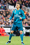 Cristiano Ronaldo of Real Madrid reacts during the La Liga 2017-18 match between Valencia CF and Real Madrid at Estadio de Mestalla  on 27 January 2018 in Valencia, Spain. Photo by Maria Jose Segovia Carmona / Power Sport Images