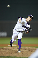 Winston-Salem Dash relief pitcher Danny Dopico (22) delivers a pitch to the plate against the Salem Red Sox at BB&T Ballpark on April 20, 2018 in Winston-Salem, North Carolina.  The Red Sox defeated the Dash 10-3.  (Brian Westerholt/Four Seam Images)