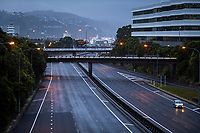 7.30 am on State Highway One urban motorway into Wellington CBD during lockdown for COVID19 pandemic in Wellington, New Zealand on Thursday, 9 April 2020. Photo: Dave Lintott / lintottphoto.co.nz