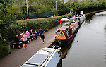 Stoke City 1 West Bromwich Albion 1, 24/09/2016. Bet365 Stadium, Premier League. Barges on The Trent and Mersey Canal near The Bet365 stadium have been converted to floating pubs. Photo by Paul Thompson.