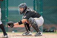 Pittsburgh Pirates Jin-De Jhang (35) during a Minor League Spring Training Intrasquad game on March 31, 2018 at Pirate City in Bradenton, Florida.  (Mike Janes/Four Seam Images)