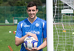 New St Johnstone signing Joe Shaughnessy pictured wearing the new home strip for the 2015-16 season...<br /> Picture by Graeme Hart.<br /> Copyright Perthshire Picture Agency<br /> Tel: 01738 623350  Mobile: 07990 594431