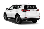 Car pictures of rear three quarter view of a 2018 Toyota RAV4 LE 5 Door SUV angular rear