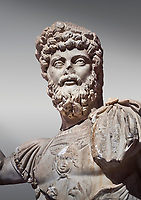 Roman statue of Emperor Septimus Severus. Marble. Perge. 2nd century AD. Inv no 3266 . Antalya Archaeology Museum; Turkey.