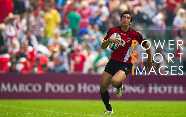 Canada play Zimbabwe on Day 2 of the 2011 Cathay Pacific / Credit Suisse Hong Kong Rugby Sevens, Hong Kong Stadium. Photo by The Power of Sport Images