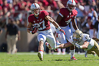 STANFORD, CA - AUGUST 30, 2014:  Christian McCaffrey during Stanford's game against UC Davis. The Cardinal defeated the Aggies 45-0.