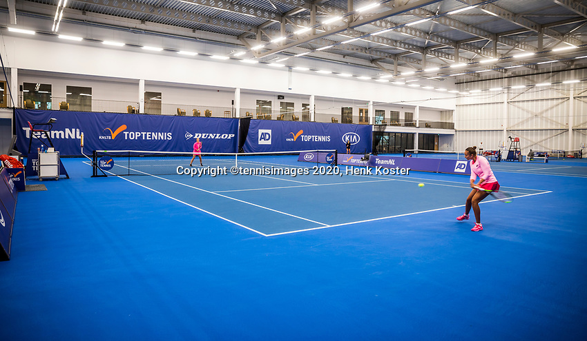 Amstelveen, Netherlands, 18  December, 2020, National Tennis Center, NTC, NK Indoor, National  Indoor Tennis Championships,   :  Overall view , no public <br /> Photo: Henk Koster/tennisimages.com