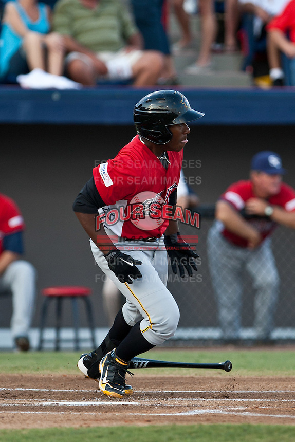 Quincy Latimore of the Bradenton Marauders during the Florida State League All Star Game on June 12 2010 at Space Coast Stadium in Viera, FL (Photo By Scott Jontes/Four Seam Images)