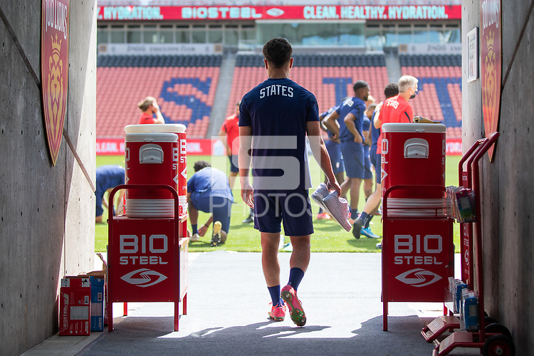 SANDY, UT - JUNE 8: Sergino Dest of the United States during a training session at Rio Tinto Stadium on June 8, 2021 in Sandy, Utah.