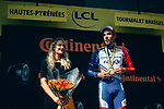 Thibaut Pinot (FRA) Groupama-FDJ climbs to stage victory on the Col du Tourmalet to win Stage 14 of the 2019 Tour de France running 117.5km from Tarbes to Tourmalet Bareges, France. 20th July 2019.<br /> Picture: ASO/Thomas Maheux | Cyclefile<br /> All photos usage must carry mandatory copyright credit (© Cyclefile | ASO/Thomas Maheux)