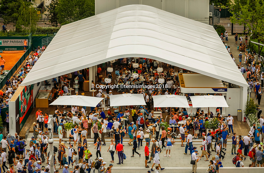Paris, France, 28 May, 2018, Tennis, French Open, Roland Garros, ambiance<br /> Photo: Henk Koster/tennisimages.com