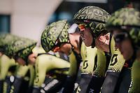 Matthew Hayman (AUS/Mitchelton-Scott) focused & ready to roll on the TTT start ramp<br /> <br /> Stage 3 (Team Time Trial): Cholet > Cholet (35km)<br /> <br /> 105th Tour de France 2018<br /> ©kramon