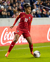 HOUSTON, TX - JANUARY 31: Aldrith Quintero #10 of Panama during a game between Panama and USWNT at BBVA Stadium on January 31, 2020 in Houston, Texas.