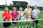 At the Tralee Tennis club at their mixed doubles competition on Sunday, l to r: Mary B Murphy, Jane Hollywood, Catherine Casey, George Philip and Ray Moroney.