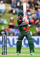 20th March 2021; Dunedin, New Zealand;  Mushfiqur Rahim bats during the New Zealand Black Caps v Bangladesh International one day cricket match. University Oval, Dunedin.