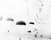 Wave of paratroopers land in Holland, September 1944