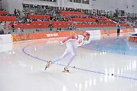 OLYMPICS: SOCHI: Adler Arena, 08-02-2014, 5000 m Men, Ivan Skobrev (RUS), ©photo Martin de Jong
