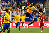 Harrison, NJ - Friday July 07, 2017: Anthony Soubervie during a 2017 CONCACAF Gold Cup Group A match between the men's national teams of French Guiana (GUF) and Canada (CAN) at Red Bull Arena.