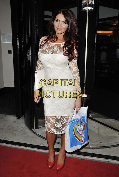 LONDON, ENGLAND - JUNE 02: Amy Childs attends the Health Lottery VIP tea party, The Savoy Hotel, The Strand, on Monday June 02, 2014 in London, England, UK.<br /> CAP/CAN<br /> ©Can Nguyen/Capital Pictures