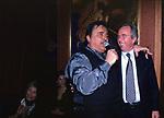 UMBERTO SMAILA CON SVEN GORAN ERIKSSON <br /> BELLA BLU ROMA 1999