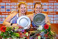Alphen aan den Rijn, Netherlands, December 21, 2019, TV Nieuwe Sloot,  NK Tennis, Women's wheelchair doubles final:  Marjolein Buis (NED) and  Michaela Spaanstra(NED)<br />  (R) celebrate their win<br /> Photo: www.tennisimages.com/Henk Koster