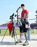 Karen Van Nest competes in Archery qualifying at the 2020 Paralympic Games in Tokyo, Japan-f-08/27/2021-Photo Scott Grant