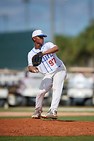 Juan Lozano during the WWBA World Championship at the Roger Dean Complex on October 20, 2018 in Jupiter, Florida.  Juan Lozano is a right handed pitcher from Cartagena, Florida who attends Home School.  (Mike Janes/Four Seam Images)