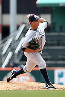 Empire State Yankees pitcher Manny Banuelos #13 during a game against the Buffalo Bisons at Coca-Cola Field on April 12, 2012 in Buffalo, New York.  Empire State defeated Buffalo 7-2.  (Mike Janes/Four Seam Images)