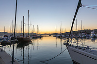 Thesens Island ,Knysna,, south Africa,sunset in the port