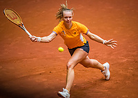 Den Bosch, The Netherlands, April 15, 2021,    Maaspoort, Billy Jean King Cup  Netherlands -  China : practice, Kiki Bertens (NED) <br /> Photo: Tennisimages/Henk Koster