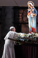 Pope Francis Holy Rosary  Conclusion the month  of May.St Peter's square at the Vatican. May 31,2013