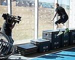 Austin Hinchey, Toronto 2015.<br /> Parapan Am hopefuls meet with the media in preparation for 2015 Parapan Am game at the Toronto Pan Am Sports Centre // Les espoirs parapanaméricains rencontrent les médias en vue du match parapanaméricain 2015 au Centre sportif panaméricain de Toronto. 23/03/2015.