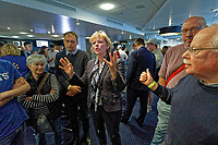 Pictured: Anna Soubry MP (C) speaks to people. Monday 13 May 2019<br /> Re: Change UK, European Elections rally in Cardiff, Wales, UK.