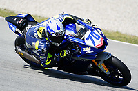 30th March 2021; Barcelona, Spain; Superbikes, WorldSSP600 , day 2 testing at Circuit Barcelona-Catalunya;   Alcoba riding Yamaha YZF R6 from MS Racing