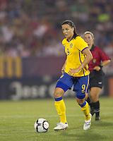 Sweden forward Jessica Landstrom (9). The US Women's national team beat Sweden, 3-0, at Rentschler Field on July 17, 2010.