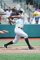 Hudson Valley Renegades infielder Leopoldo Correa (14) during game 2 of a double header against the Brooklyn Cyclones at MCU Park on July 8, 2014 in Brooklyn, NY.  Hudson Valley defeated Brooklyn 3-0.  (Tomasso DeRosa/Four Seam Images)