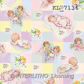 Interlitho, GIFT WRAPS, paintings, angel, flowers(KL7136,#GP#) everyday
