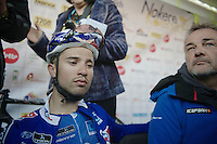 Nacer Bouhanni (FRA) very dissapointed with 3rd place finish<br /> <br /> Nokere Koerse 2014