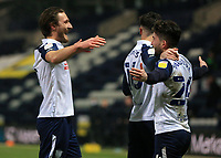 29th December 2020; Deepdale Stadium, Preston, Lancashire, England; English Football League Championship Football, Preston North End versus Coventry City; Sean Maguire of Preston North End celebrates after scoring to give his side a 2-0 lead after 52 minutes