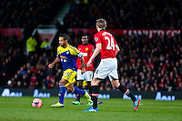 Sunday 05 January 2014<br /> Pictured: Wayne Routledge runs with the ball <br /> Re: Manchester Utd FC v Swansea City FA cup third round match at Old Trafford, Manchester