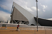 The Aquatics Centre, designed by architect Zaha Hadid, Olympic Park, London.