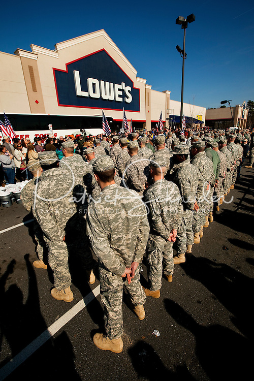 Two hundred National Guard troops got a surprise 10-day leave at Christmas time -- right before they'd deploy to Afghanistan. But there was no money to get those soldiers home. Lowe's gave $25,000. Then the Lowe's employees put together a homecoming the soldiers and their families would never forget.