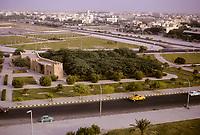 Kuwait October 1966.  Jahra Gate from Sheraton Hotel, Kuwait City in Background.
