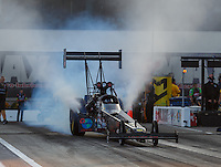 Sep 16, 2016; Concord, NC, USA; NHRA top fuel driver Scott Palmer during qualifying for the Carolina Nationals at zMax Dragway. Mandatory Credit: Mark J. Rebilas-USA TODAY Sports