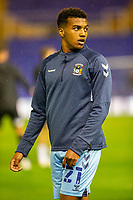 2nd October 2020; St Andrews Stadium, Coventry, West Midlands, England; English Football League Championship Football, Coventry City v AFC Bournemouth; Sam McCallum of Coventry City looks behind him during the warm up