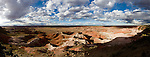 Panorama of the Painted Desert in Arizona's Petrified National Forest