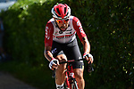 Thomas De Gendt (BEL) Lotto-Soudal from the breakaway goes solo during Stage 8 of the 2019 Tour de France running 200km from Macon to Saint-Etienne, France. 13th July 2019.<br /> Picture: ASO/Alex Broadway   Cyclefile<br /> All photos usage must carry mandatory copyright credit (© Cyclefile   ASO/Alex Broadway)