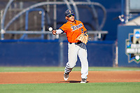 Cal State Fullerton Titans Hank LoForte (9) in action against the University of Washington Huskies at Goodwin Field on June 10, 2018 in Fullerton, California. The Huskies defeated the Titans 6-5. (Donn Parris/Four Seam Images)