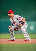 15 August 2017: Los Angeles Angels first baseman Albert Pujols in action against the Washington Nationals at Nationals Park in Washington, DC. The Nationals defeated the Angels 3-1 in the first game of their 2-game series. Mandatory Credit: Ed Wolfstein Photo *** RAW (NEF) Image File Available ***
